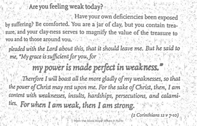 Feeling weak...